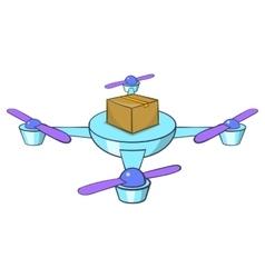 Quadcopter icon cartoon style vector