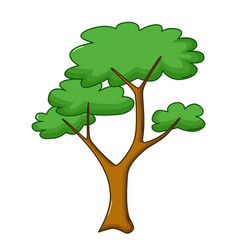 savanna tree icon cartoon style vector image