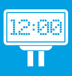 Scoreboard icon white vector