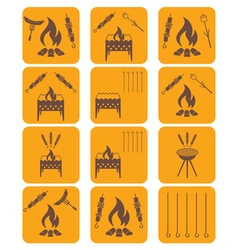 Set of kebab icons vector image vector image