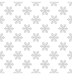 Snowflakes seamless pattern for adult anti stress vector