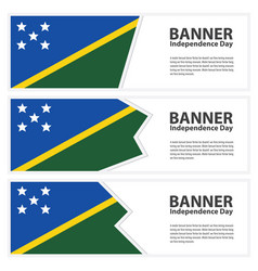 Solomon islands flag banners collection vector