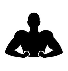 strong man human figure vector image vector image