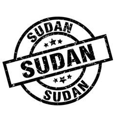 Sudan black round grunge stamp vector