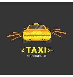 Taxi car service vector image