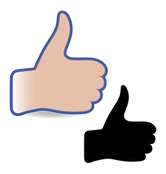 Template hand like social button vector