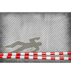 Texture grey with red tape murder vector
