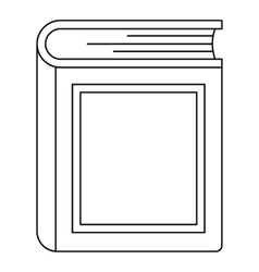 Thick book icon outline style vector image vector image