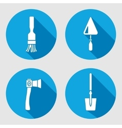 Tool icon set Brush trowel spattle surfacer vector image vector image