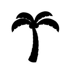 Tree palm with coconut vector