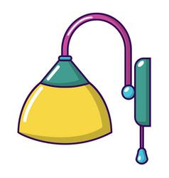 wall lamp icon cartoon style vector image