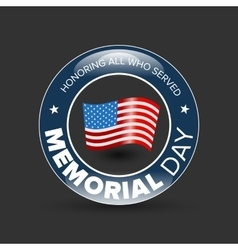 Memorial day badge vector image