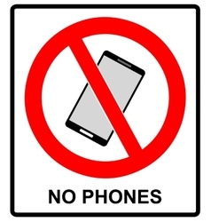 No cell phone sign mobile phone ringer volume vector