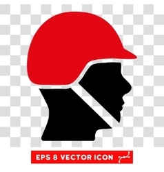 Soldier helmet eps icon vector