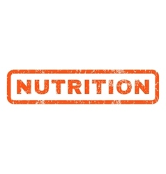 Nutrition Rubber Stamp vector image