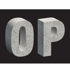 Concrete 3D letters vector image