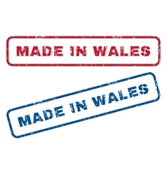 Made in wales rubber stamps vector