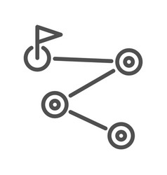 route planner line icon vector image