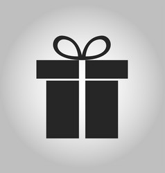 icon gift vector image
