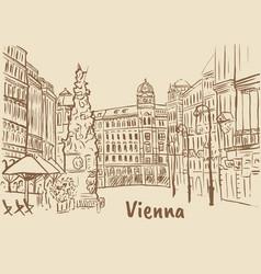 Graben street in vienna vector