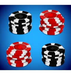Casino chips stack vector