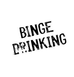 Binge drinking rubber stamp vector