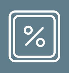 Percentage symbol vector