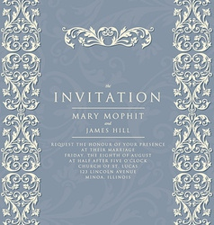 Invitation with rich background renaissance vector