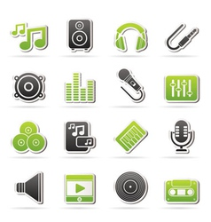 sound and audio icons vector image
