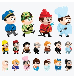 Cartoon Characters vector image
