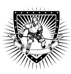 Ice hockey shield vector