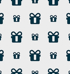 Gift icon sign seamless pattern with geometric vector