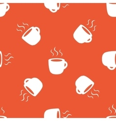 Orange hot drink pattern vector