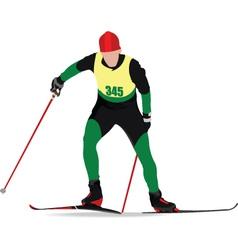 snow skiing vector image