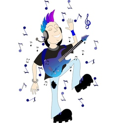 Boy with guitar vector