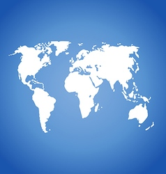 World map isolated on blue vector