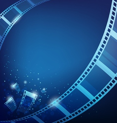 Film for photos blue background vector