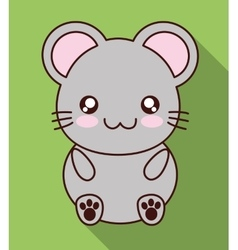 Kawaii mouse icon cute animal graphic vector