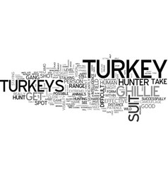 A few hints for turkey hunters text word cloud vector