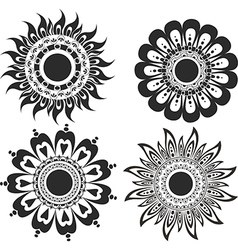 A set of flower tattoos vector image