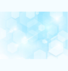 abstract repeating hexagonal shape on blue and vector image vector image
