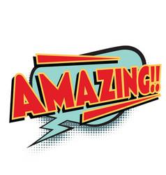 Amazing comic word vector