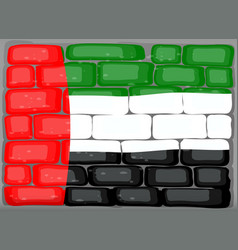 Arab emirates flag on the wall vector