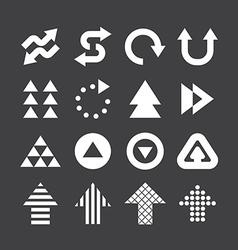 Arrow icons set design vector image vector image