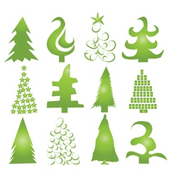 Christmas Tree Shapes vector image vector image