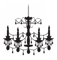 Classic chandelier on white vector image vector image
