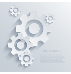 Creative mechanism icon background eps 10 vector