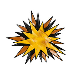 drawing star speech comic talking image vector image