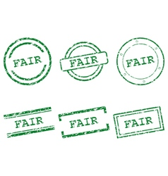 Fair stamps vector image vector image