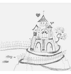 Fairy-tale castle vector